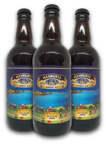 Hanbury's Amber Ale Bottles